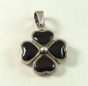 Black onyx pendant ebay black onyx heart pendant aloadofball Image collections