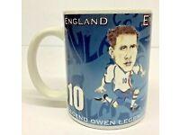 Michael Owen England Cup Collectible Ceramic Football Mug