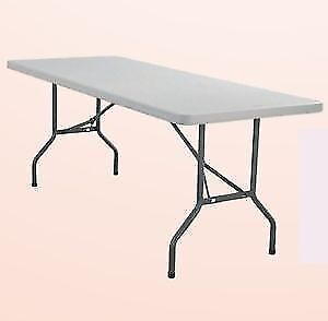 Tables HDPE rectangle available in 3 sizes