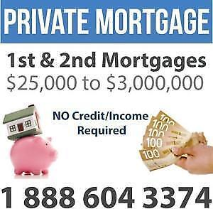 Second Mortgages / 2nd Mortgages / Home Equity Loans - NO INCOME or CREDIT REQUIREMENTS - CALL 1-888-604-3374
