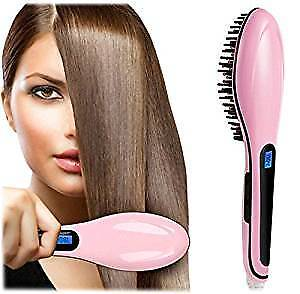 Hair Straightener Brush with LED Display