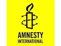 Amnesty International - Street Fundraiser - Full time - Glasgow - £9 - £10.50 ph- Immediate Start