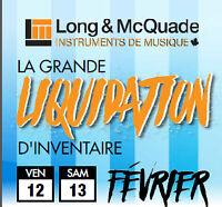 GRANDE LIQUIDATION D'INVENTAIRE  LONG & MCQUADE 2016