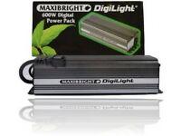 Hydroponics lights, ballast, maxibright digi light