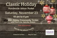 Handmade Market - Oakville -  Glen Abbey Recreation Center