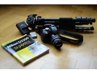 Nikon D3300 with 18-55mm kit lens and accessories