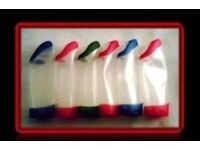EMPTY SHOWER GEL CONTAINERS - (6) - FOR SALE