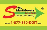 My Smart Movers. $80 Promotion. Licended, Insured, Bonded