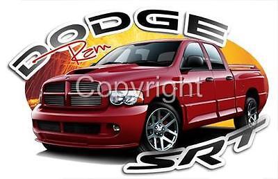 2005 Dodge RAM SRT-10 Quad Cab Pickup T-Shirt #9439 automotive art Dodge Ram Srt 10 Quad