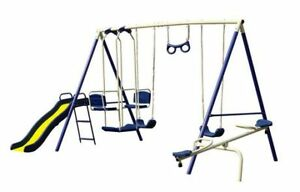 Brand New In Box 8 Station Swing Set