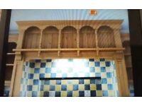Brookmans pine kitchen range surround