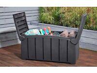 Strata Heavy Duty Garden Storage Box Grey 322L