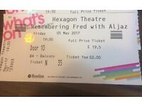 Tickets to Remembering Fred with Strictly Stars Aljaz and Janette, Reading Hexagone 5/5/17