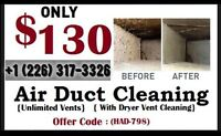 Special Discount $130 Whole House Air Duct Cleaning*226-317-3326