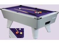 Supreme Winner Pool Table 6x3 In Silver New Stock