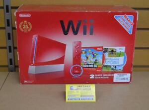 Console nintendo wii rouge édition mario