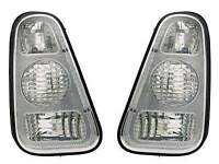 mini clear lens rear lights including bulbs. excellent condition