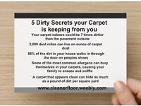 Deep Clean Carpet and Upholstery cleaning