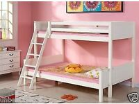 WHITE TRIPLE BUNK BED - NEVER BEEN ASSEMBLED