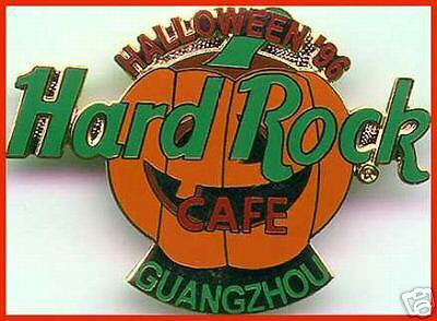 Hard Rock Cafe GUANGZHOU 1996 HALLOWEEN PIN Pumpkin Jack-o-Lantern](Guangzhou Halloween)