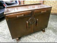 Antique Carved Oak Side table/ Buffet for sale  Potters Bar, Hertfordshire