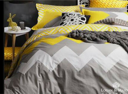 Logan and mason queen quilt cover set