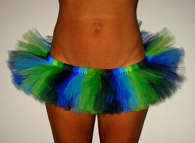 Burning Hot  mini skirt rave tutu for man or woman (Green Tutu For Women)