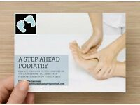 A STEP AHEAD PODIATRY - HCPC reg/NHS experienced Mobile Podiatrist in the comfort of your own home