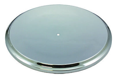 """Chrome Classic Steel Dished 14"""" Round Air Cleaner Top / Lid Only Chevy Ford V8"""