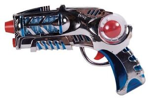 COSMIC BLASTER Space toy pistol Laser Ray Gun LIGHTS/SOUND Billy Idol Rebel Yell