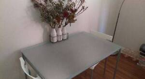 Frosted glass dining table with 4 chairs Double Bay Eastern Suburbs Preview