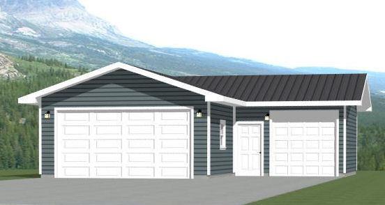 34x36 3-Car Garage -- 1,000 sq ft -- PDF Floor Plans -- Model 1