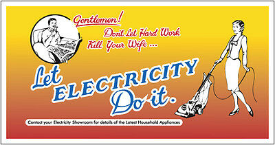 METAL SIGN - DON'T LET HARD WORK KILL ... (ELECTRICITY)