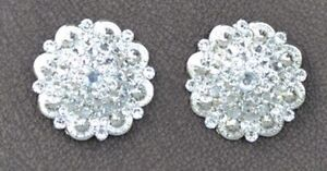Concho set (large) with crystal Swarovski rhinestones
