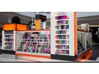 Mall Kiosk for sale - Phone accessories, corn, food, coffee, RMU