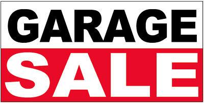 Garage Sale Vinyl Banner Sign 2x4 Ft - Wb