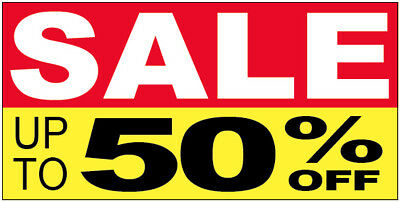 Sale Up To 50 Off Vinyl Banner Clearance Promotion Sign 2x4 Ft - Ryb