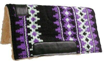 """35-1676 Weaver Leather Pony Contoured Wool Blend Felt Saddle Pad 23/"""" X 24/"""""""