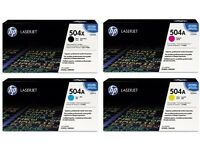 HP 504A CE251A / CE252A / CE253A Toner Cartridges Newer Style Boxes (£95.00 Each)