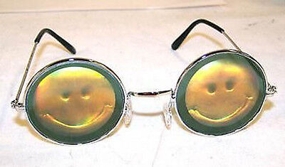 HOLOGRAPHIC SMILE FACE SUNGLASSES hologram 3-D SMILEY glasses trippy groovy