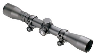BUSHNELL 4X32 SCOPE for 17 22  RIFLE WITH RINGS DEMO SCOPES HUNTING TARGET 1