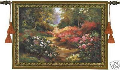 Along The Garden Path Landscape Tapestry Wall -