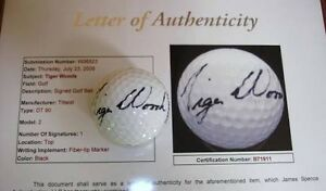 TIGER WOODS SIGNED BALL Mango Hill Pine Rivers Area Preview