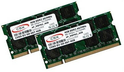2x 4GB 8GB DDR2 IBM LENOVO ThinkPad SL300 SL400 SL500 X100e Speicher...