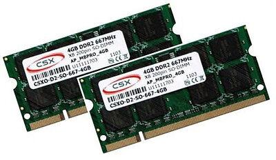 2x 4GB = 8GB Speicher RAM DDR2 667Mhz Acer Notebook Aspire 5541...