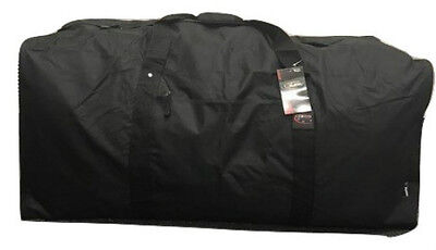 Black 42 Inch Square Cargo Sports Bag Duffel Camp Huge Jumbo Duffelbag Tote 42""
