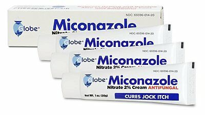Miconazole Nitrate 2% Antifungal Cream for Athletes Foot & Jock Itch 1oz -3 Pack - Miconazole Nitrate 2 Cream