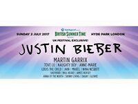 Justin Bieber Tickets London Hyde Park