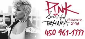 PINK - P!NK : SECTIONS ROUGE ET PARTERRE !!!