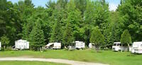 Campground 253 sites residence pool rec hall 75 acres in Muskoka